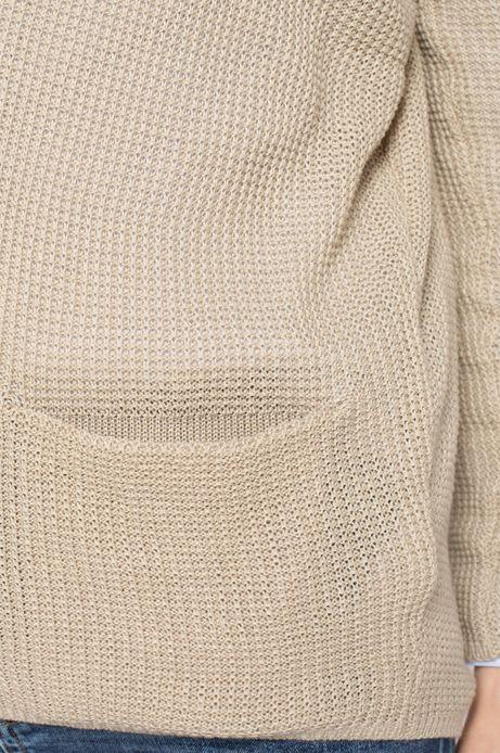 Sweter Work In Progress beżowy