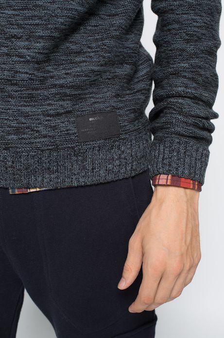Sweter Heritage niebieski