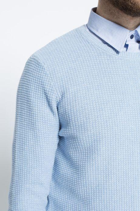 Sweter Work In Progress niebieski