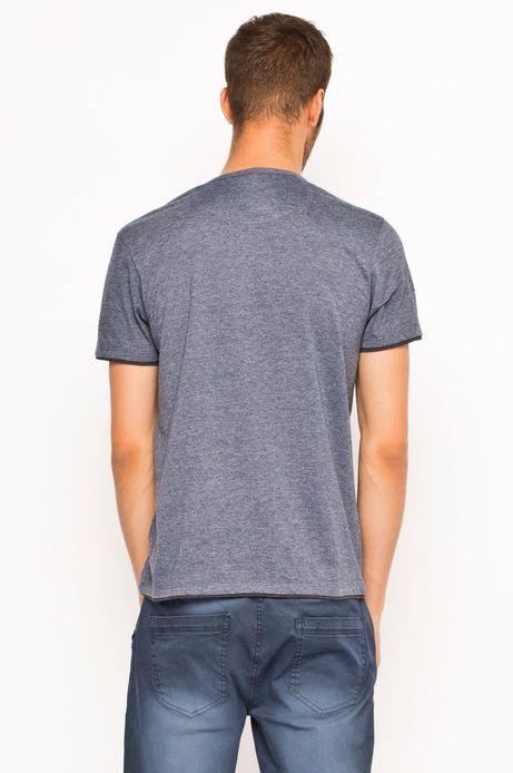 T-shirt Boho granatowy