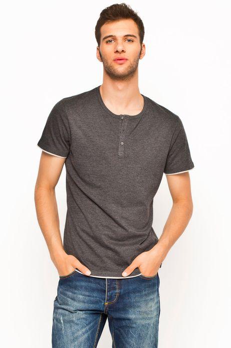 T-shirt Boho szary