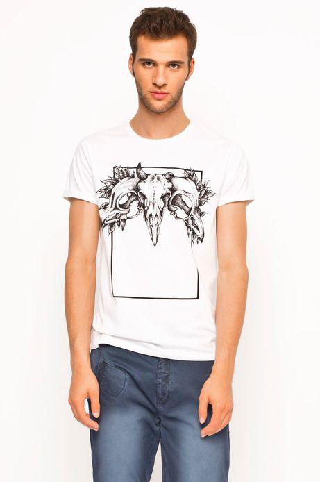 T-shirt Boho biały