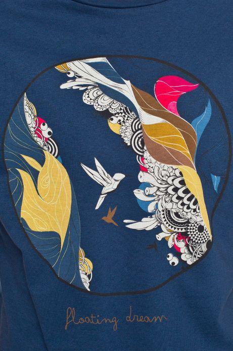 T-shirt Heritage turkusowy