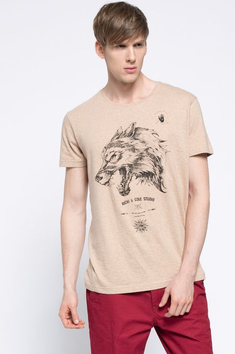 T-shirt Heritage beżowy