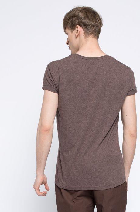 T-shirt Heritage brązowy