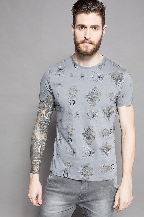 T-shirt Grafika Polska szary