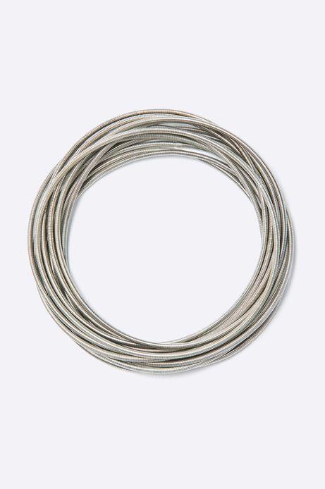 Komplet bransoletek Belleville (12-pack) srebrne srebrne