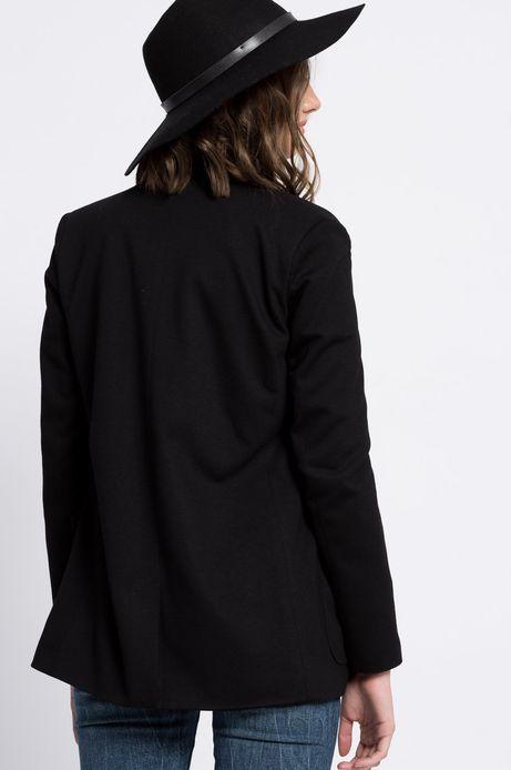Woman's Żakiet Jaquard czarny