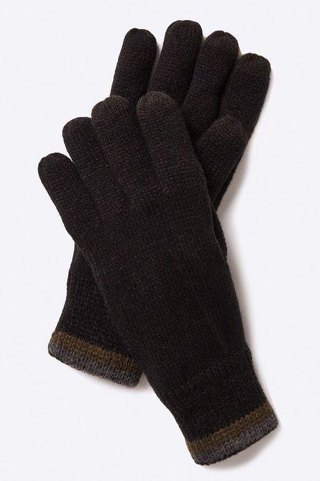 Man's Rękawiczki Inverness czarne