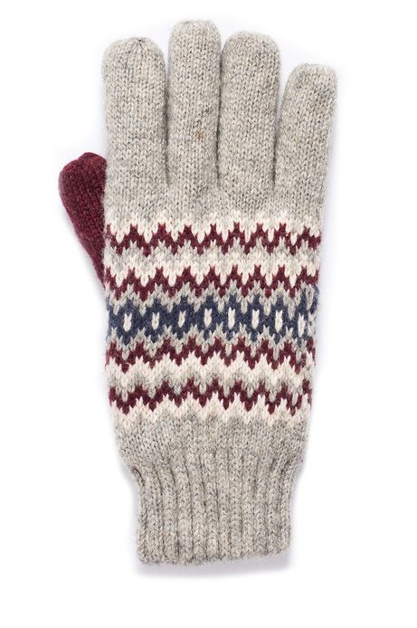 Man's Rękawiczki  szare