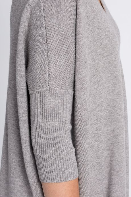 Sweter Jaquard szary