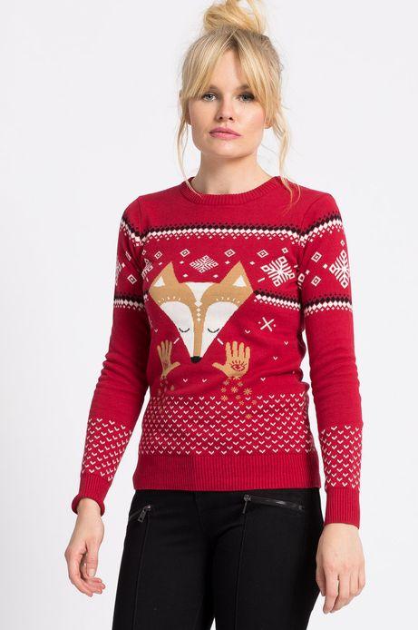 Sweter Xmas czerwony