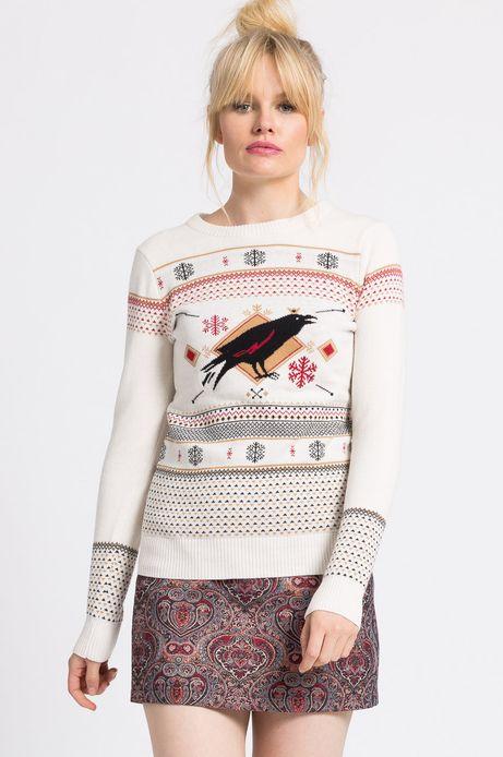Woman's Sweter Xmas kremowy