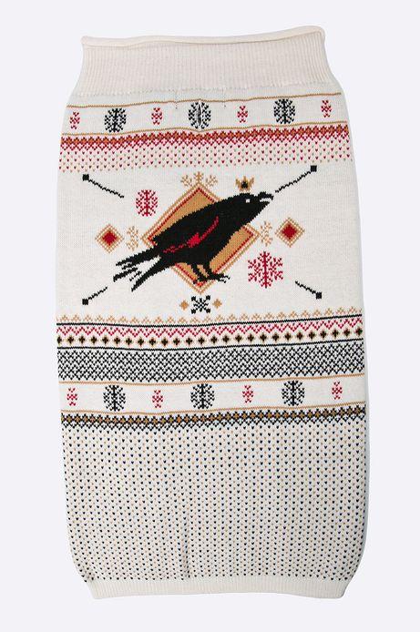 Sweter dla psa Xmas kremowy