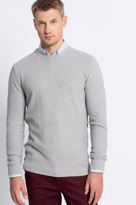Man's Sweter Smart Winter szary