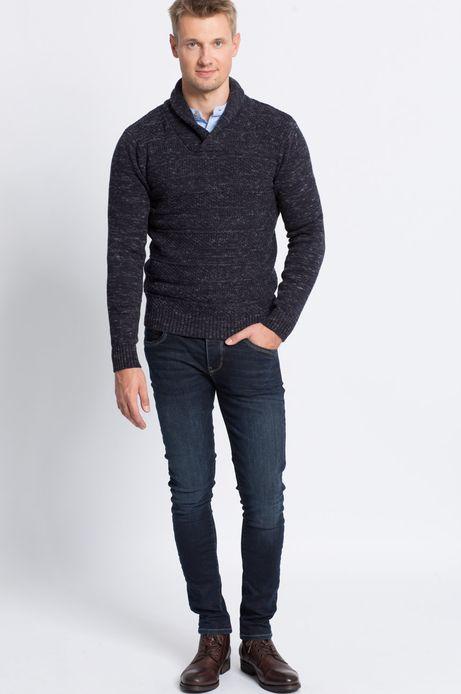 Sweter Smart Winter granatowy