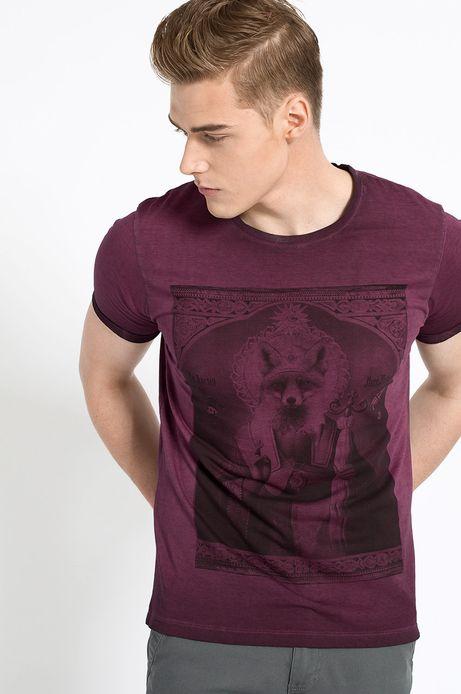T-shirt Belleville brązowy