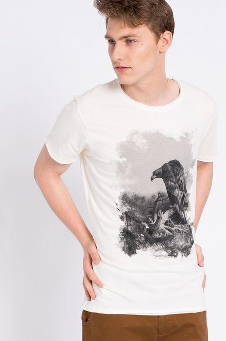 T-shirt Inverness kremowy