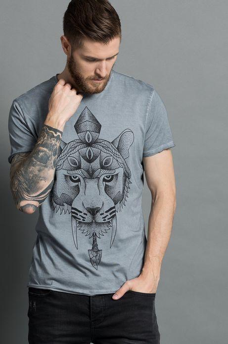 T-shirt by Piotr Szencel, Tattoo Konwent szary