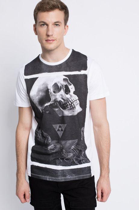 T-shirt Dark Side biały