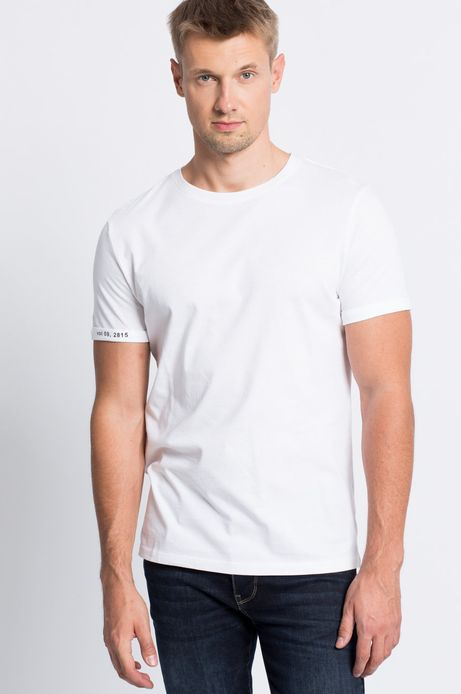T-shirt Smart Winter biały