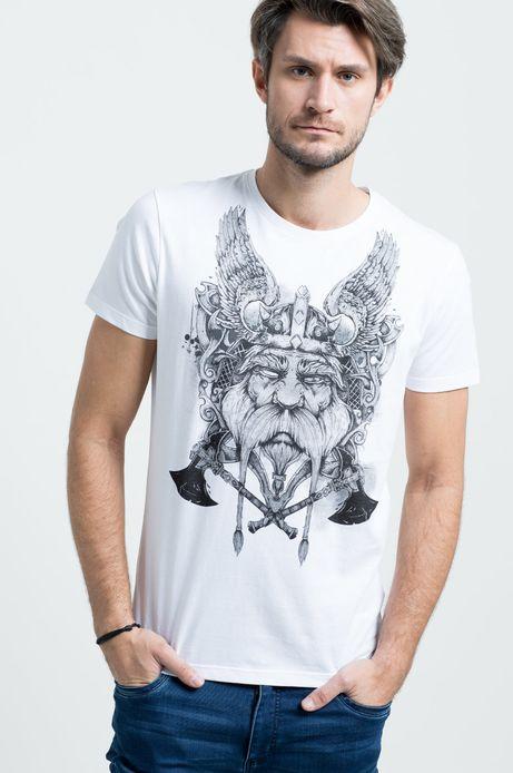 T-shirt Viking Tales biały