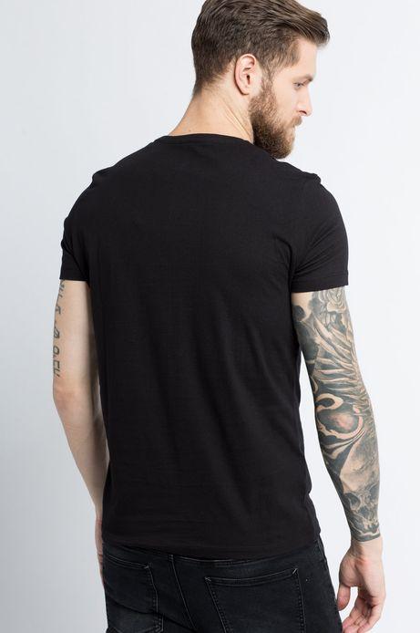 T-shirt Tu się czyta czarny