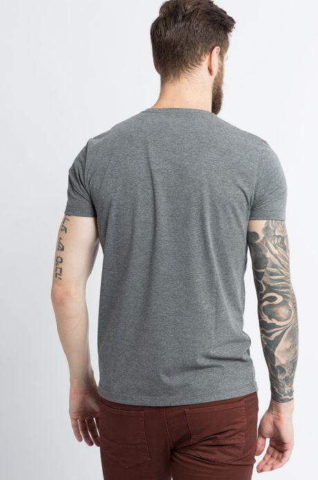 T-shirt Tu się czyta szary