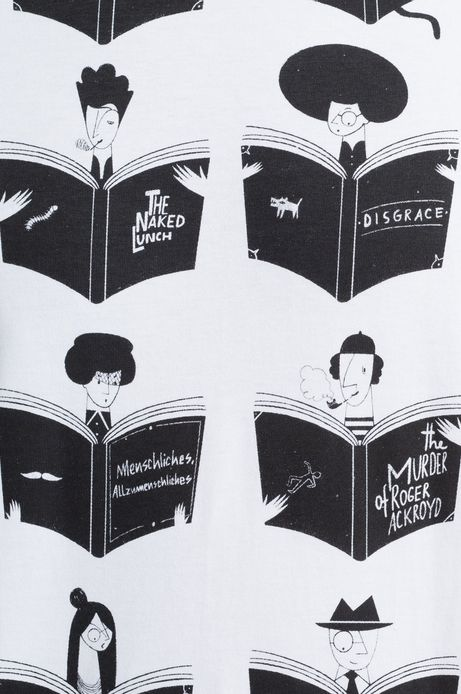 T-shirt Bibliophilia biały