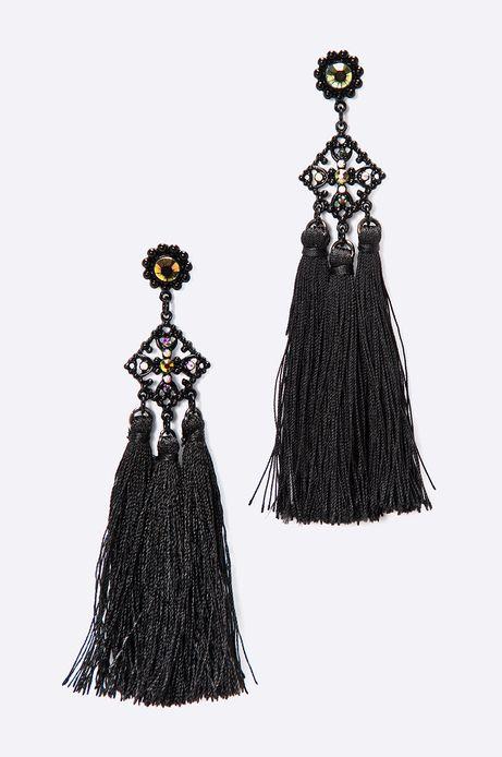 Kolczyki damskie Dark Bloom czarne