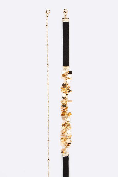 Naszyjniki damskie Dark Bloom (2-pack) złoty