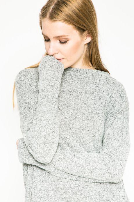 Bluza damska z gładkiej dzianiny szara