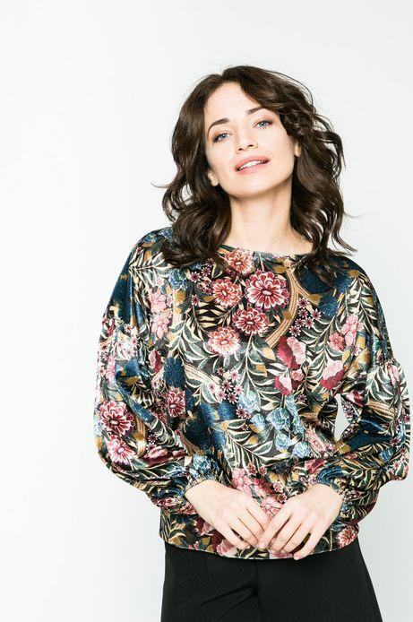 Bluza damska Dark Bloom multicolor