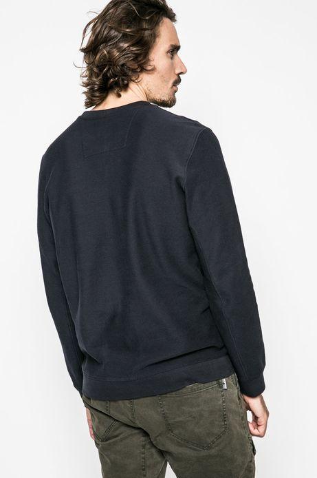 Bluza męska z bawełnianej dzianiny granatowa