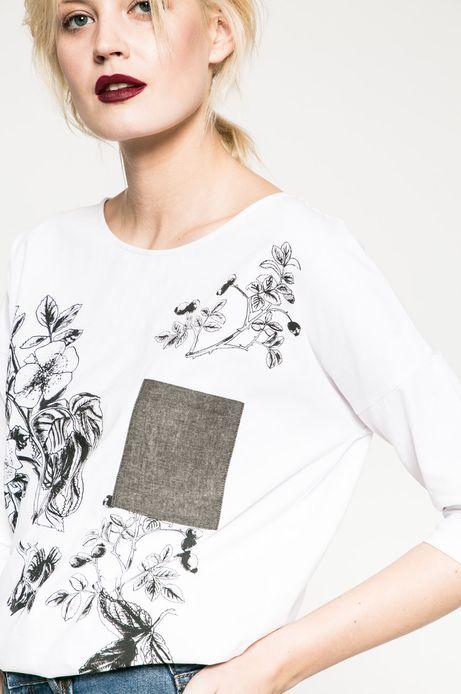 Bluzka damska Rebel Forest biała