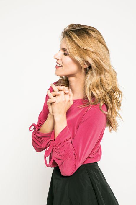 Bluzka damska Dark Bloom różowa