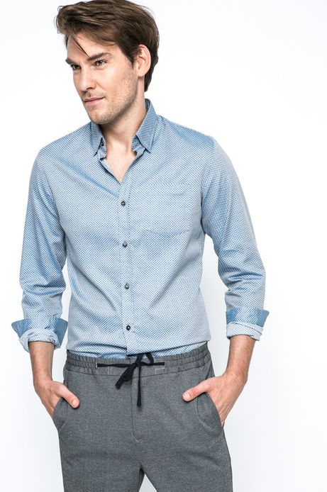 Man's Koszula Urban Utility niebieska