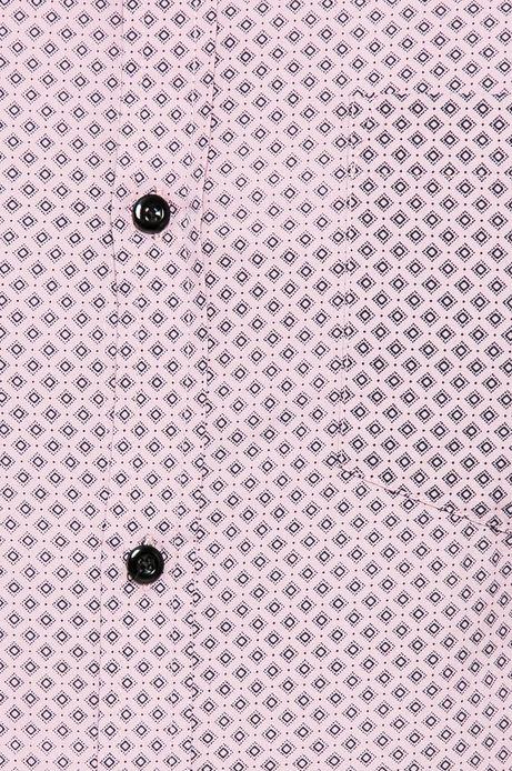 Koszula męska w drobny wzór różowa