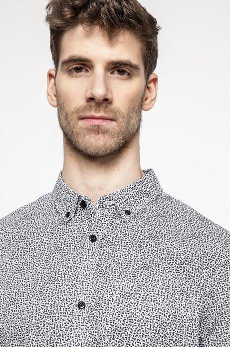Koszula męska w drobny wzór granatowa