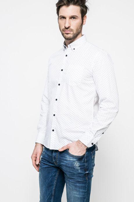 Man's Koszula męska Nocturnal biała