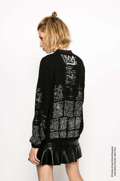 Kurtka bomber Jean-Michel Basquiat czarna