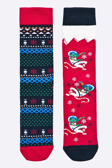 Man's Skarpety (2-pack) Xmas multicolor