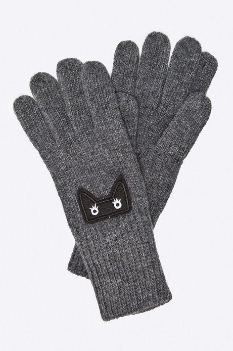 Rękawiczki Hogwarts szare z cienkiej dzianiny