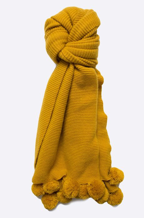Szal damski Dark Bloom żółty