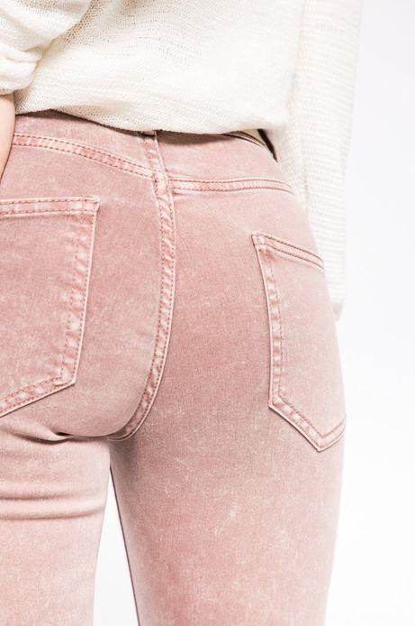 Jeansy damskie SKINNY różowe