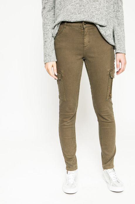 Woman's Jeansy Future Past zielone