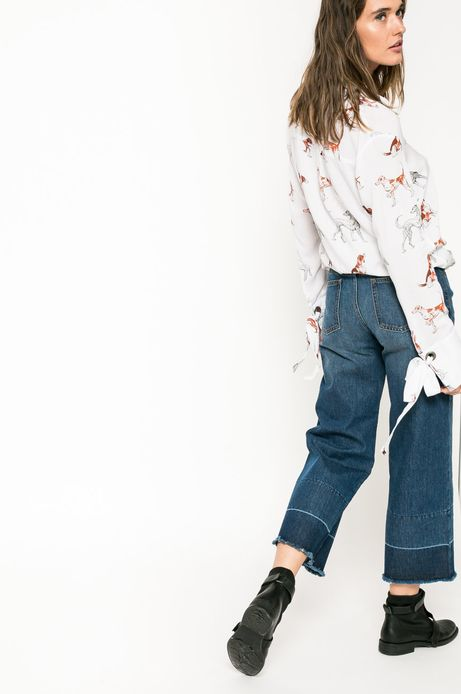 Jeansy damskie WIDE LEG cropped