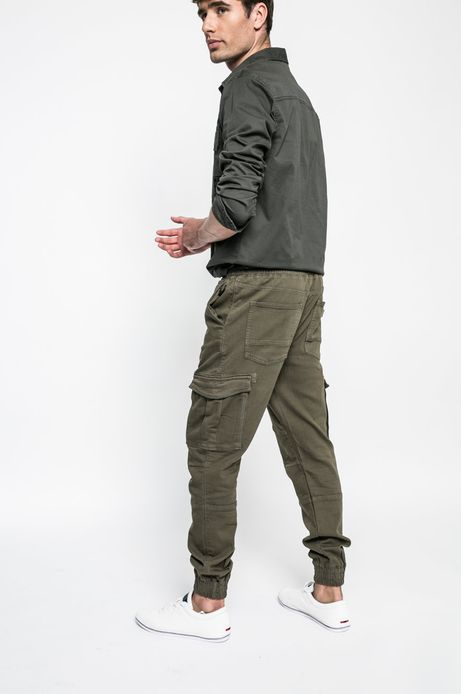 Man's Spodnie Academic Scout zielone