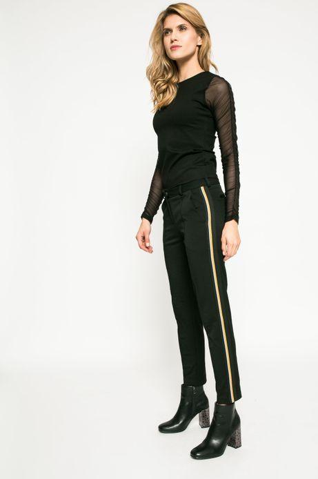 Woman's Spodnie damskie Dark Bloom czarne
