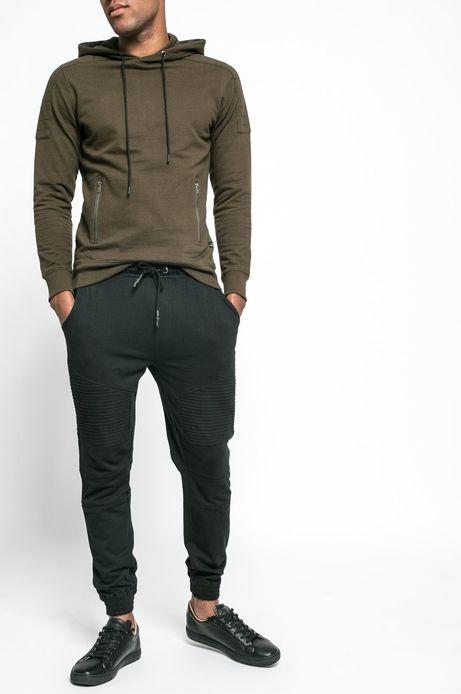 Man's Spodnie Let's Rebel czarne